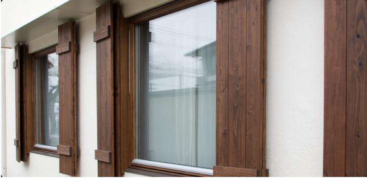 木製サッシ・三層ガラスの画像